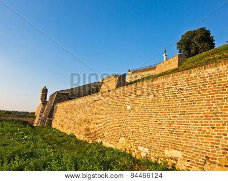 A view at Kalemegdan fortress walls from below, Belgrade