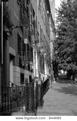 Black and White Row Houses Beacon Hill Boston