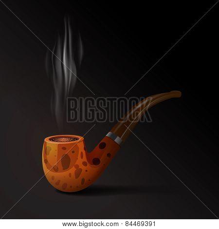 Tobacco Pipe Illustration