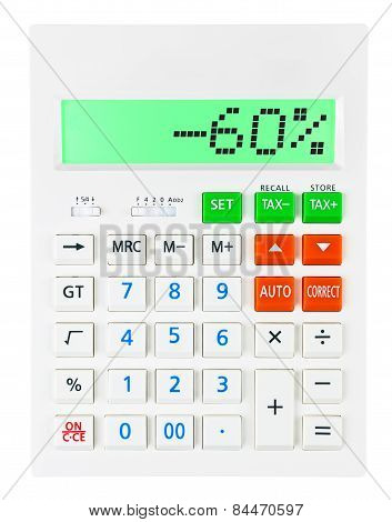 Calculator With -60