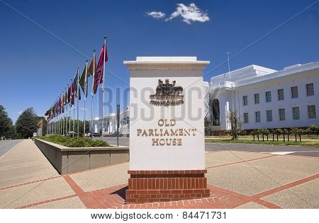 Canberra, Australia - December 18, 2014: Old Parliament House In