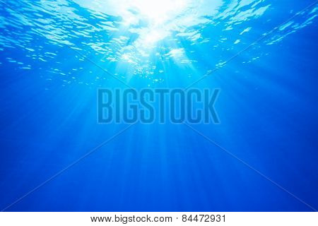 Real Ray Of Light From Underwater