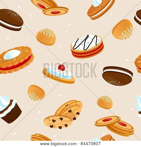 cookies seamless pattern