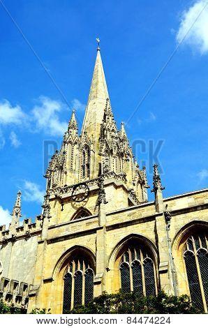 University church of St Mary, Oxford.