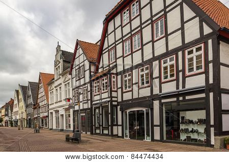 Street In Lemgo, Germany