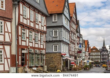 Street In  Fritzlar, Germany