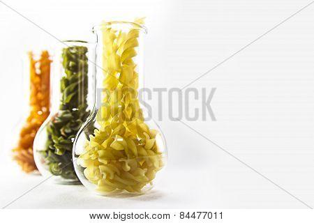 pasta in glass bowl