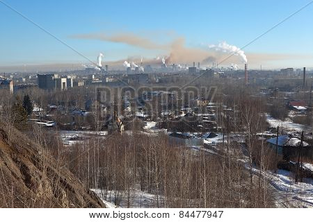 Nizhny Tagil. View from the Mountain High. Sverdlovsk region. Russia.
