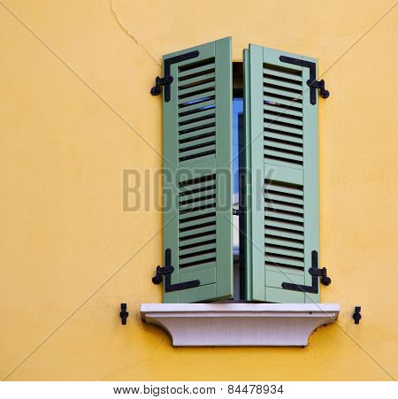Abbiate Varese Italy Abstract  Window   Green   Yellow Wall