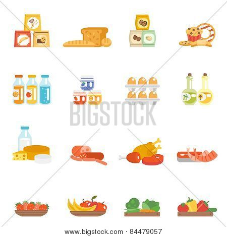 Supermarket Food Set