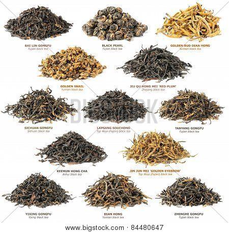 Black Tea Collection. Set Of Bleack Tea Variety