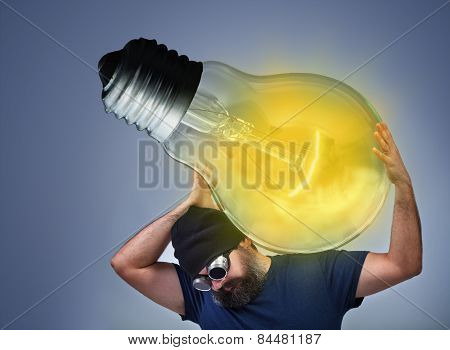 Man Busy Implementing A Great Idea
