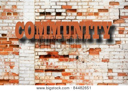 Community Concept - Community sign