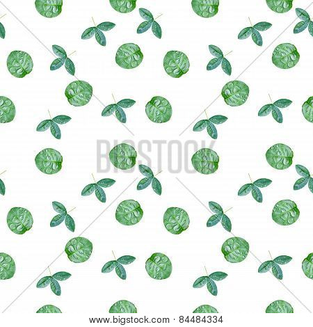 Spring leaves eco pattern