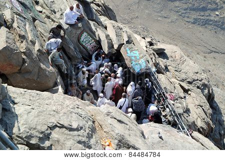 The First Revelation Came To The Cave Where The Prophet Muhammad