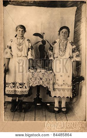 Vintage Photo -  Sisters.