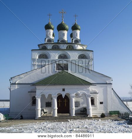 Bogoyavlenskiy Cathedral In Male Priory In City Mstyora,russia(1687-1688)