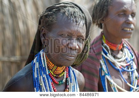 Portrait Of Old Woman From Arbore Tribe, Ethiopia