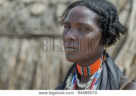 Portrait Of Unidentified Woman From Arbore Tribe, Ethiopia