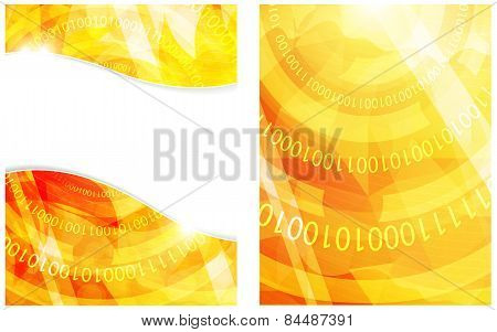 Binary Code Yellow Background