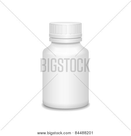 Blank Medicine Bottle Vector Illustration.