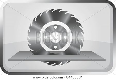 Saw Wheel - Vector Icon.