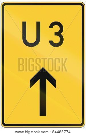 Detour Arrow Sign U3