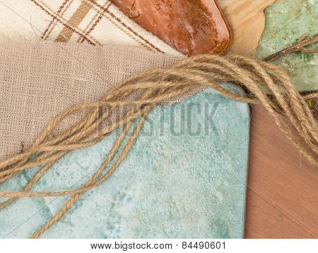 Tile, Fabric And Twine
