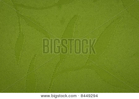 Floral green fabric
