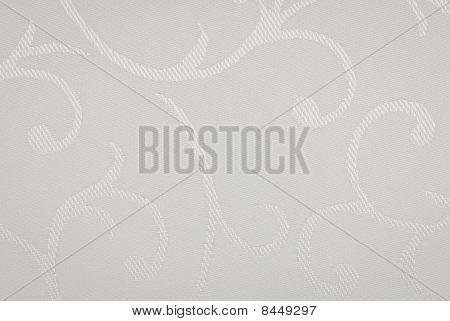 White fabric with floral texture