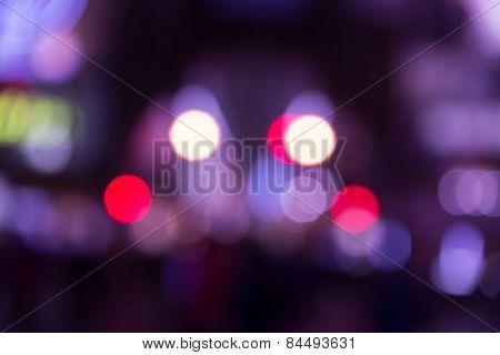 Nightlife Bokeh Purple Tone