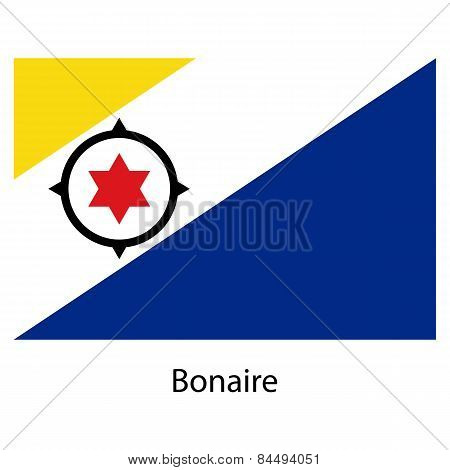 Flag  Of The Country  Bonaire. Vector Illustration.