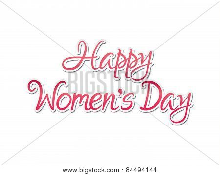 Abstract Artistic Women Day Text