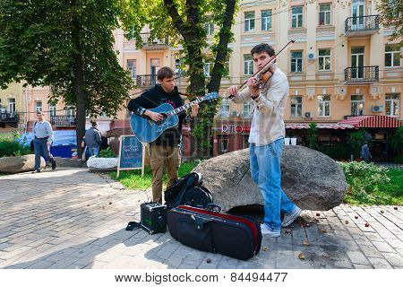 Street Musicians Performing