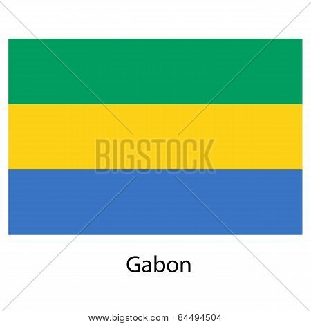 Flag  Of The Country  Gabon. Vector Illustration.