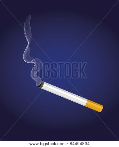 A cigarette with smoke