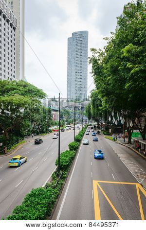 Orchard Road Shopping Street In Singapore
