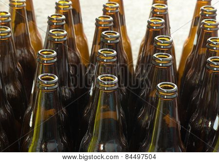 Bottles Of Brown Glass