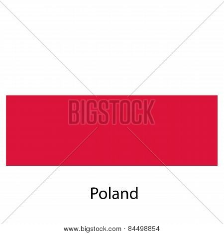 Flag  Of The Country Poland. Vector Illustration.