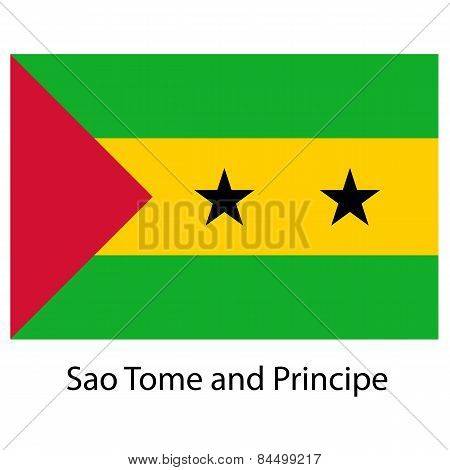 Flag  Of The Country  Sao Tome And Principe. Vector Illustration