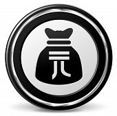 pic of yuan  - illustration of yuan bag icon with metal ring - JPG