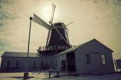 stock photo of illinois  - Windmill in Golden Illinois United States - JPG