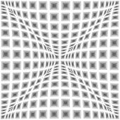 pic of parallelogram  - Design monochrome warped checked pattern - JPG