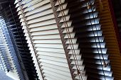 image of showrooms  - Close up of Venetian blinds in a showroom  - JPG