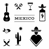 image of mexican fiesta  - mexico background - JPG