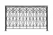 pic of stilettos  - Decorative forged banisters fence in old stiletto - JPG