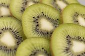 foto of villi  - Sliced ripe and juicy KIWI green color - JPG