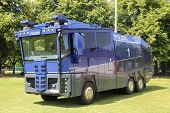 foto of cannon  - Blue water cannon vehicle of the German Police - JPG