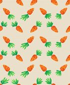 stock photo of carrot  - Carrot Seamless Pattern - JPG
