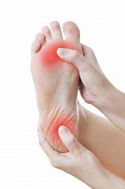 image of foot  - Pain in the foot - JPG